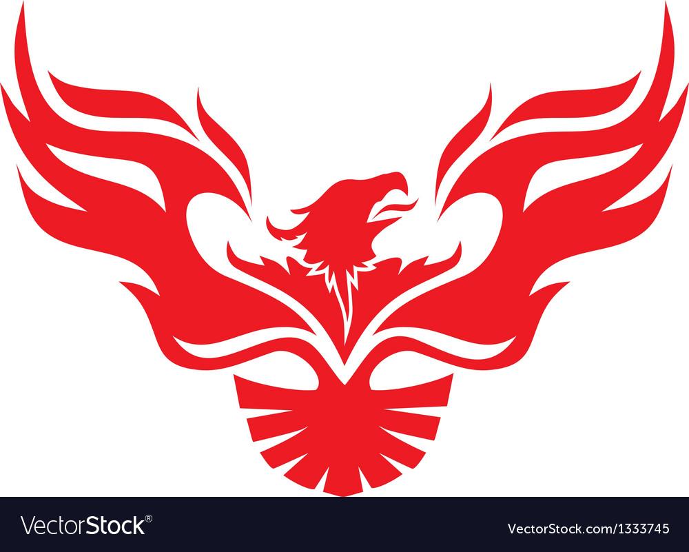 Simple image phoenix vector