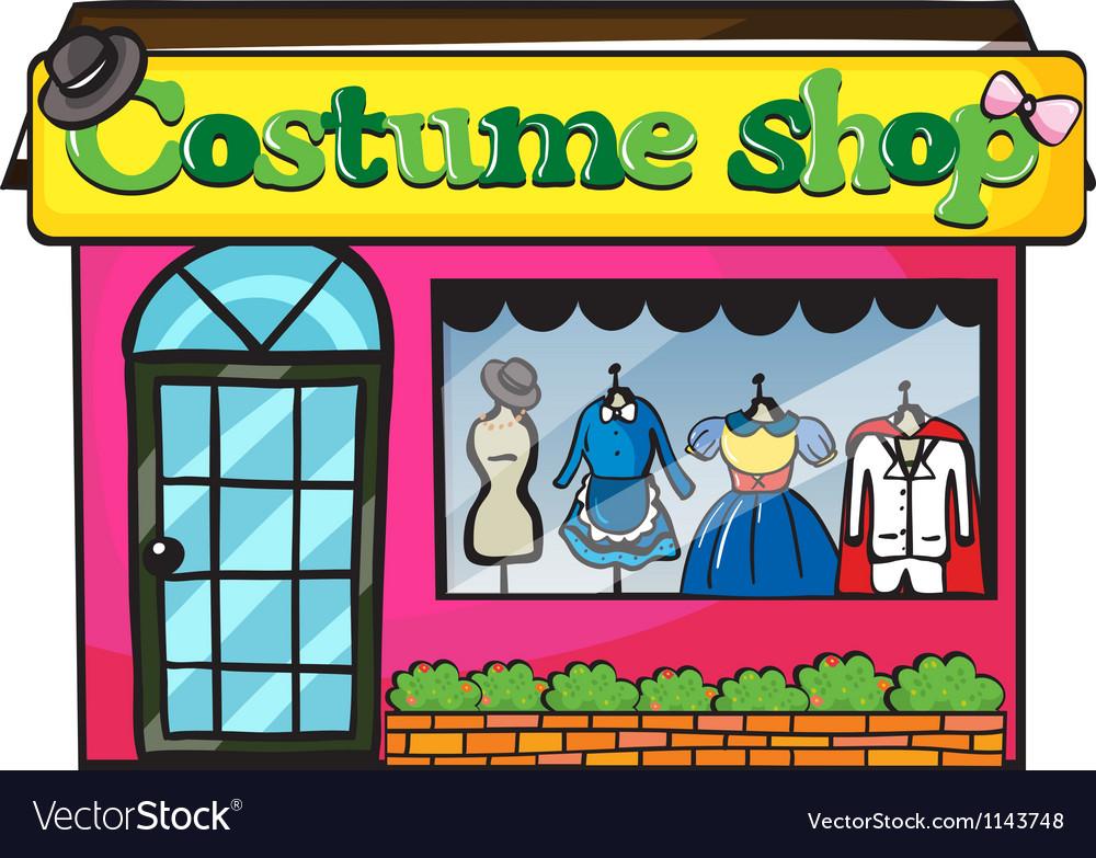 A costume shop vector