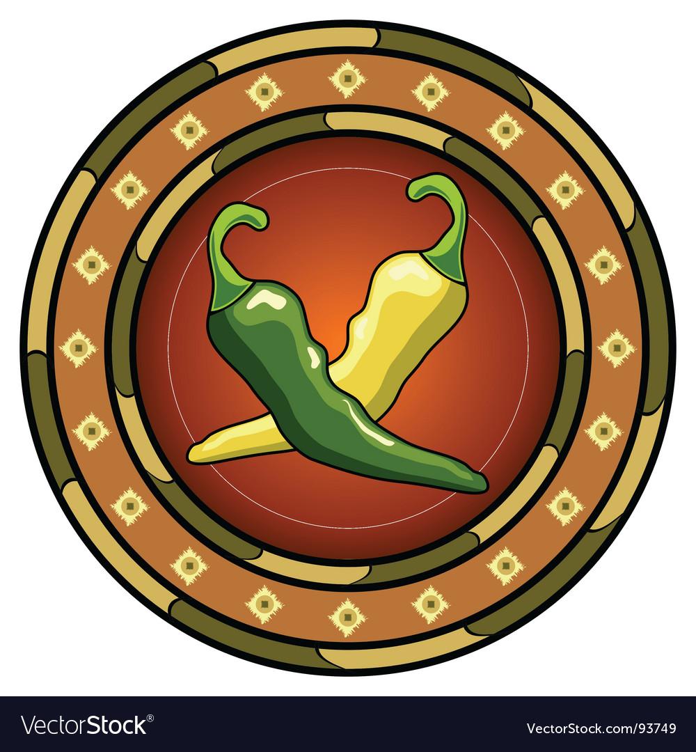 Mexican chili logo vector