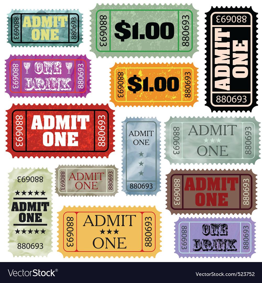 Admin one ticket vector
