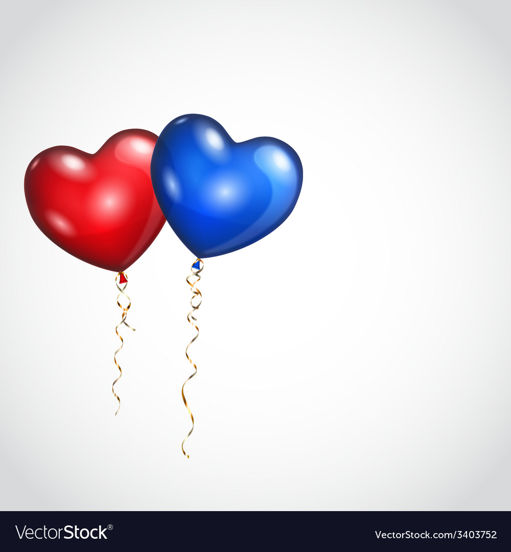 Background with two balloons vector