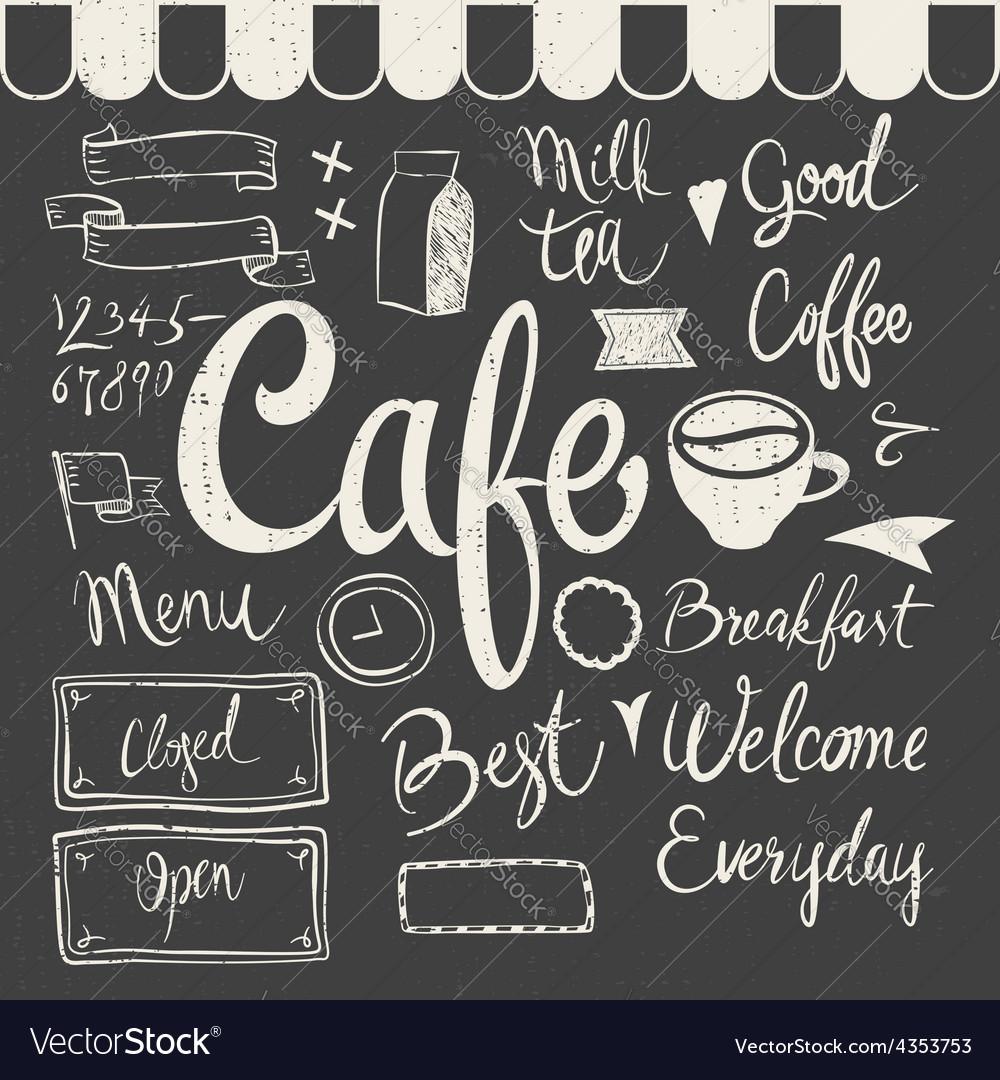 Cafe set vector