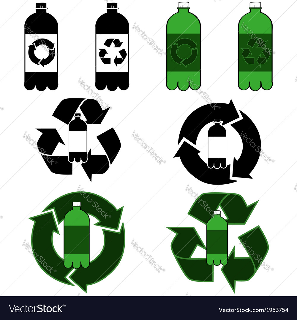Plastic bottle recycling vector