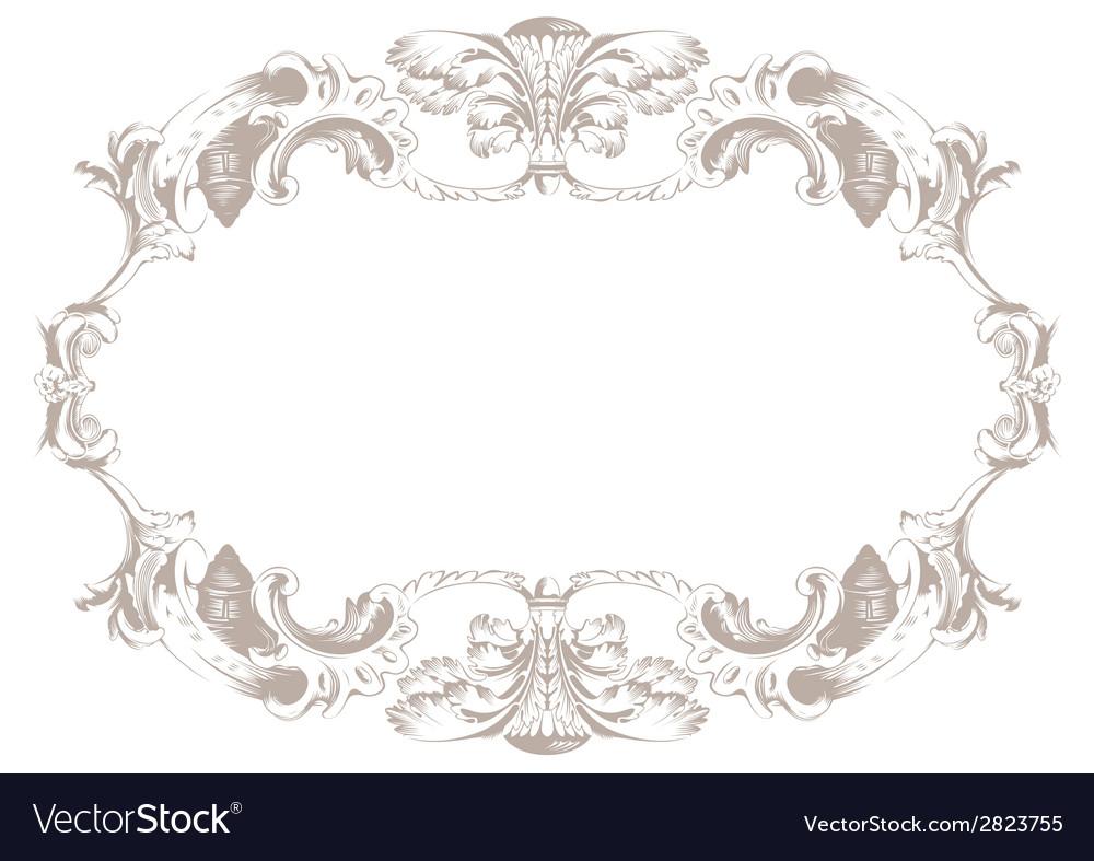 Vintage ornament background decor background vector