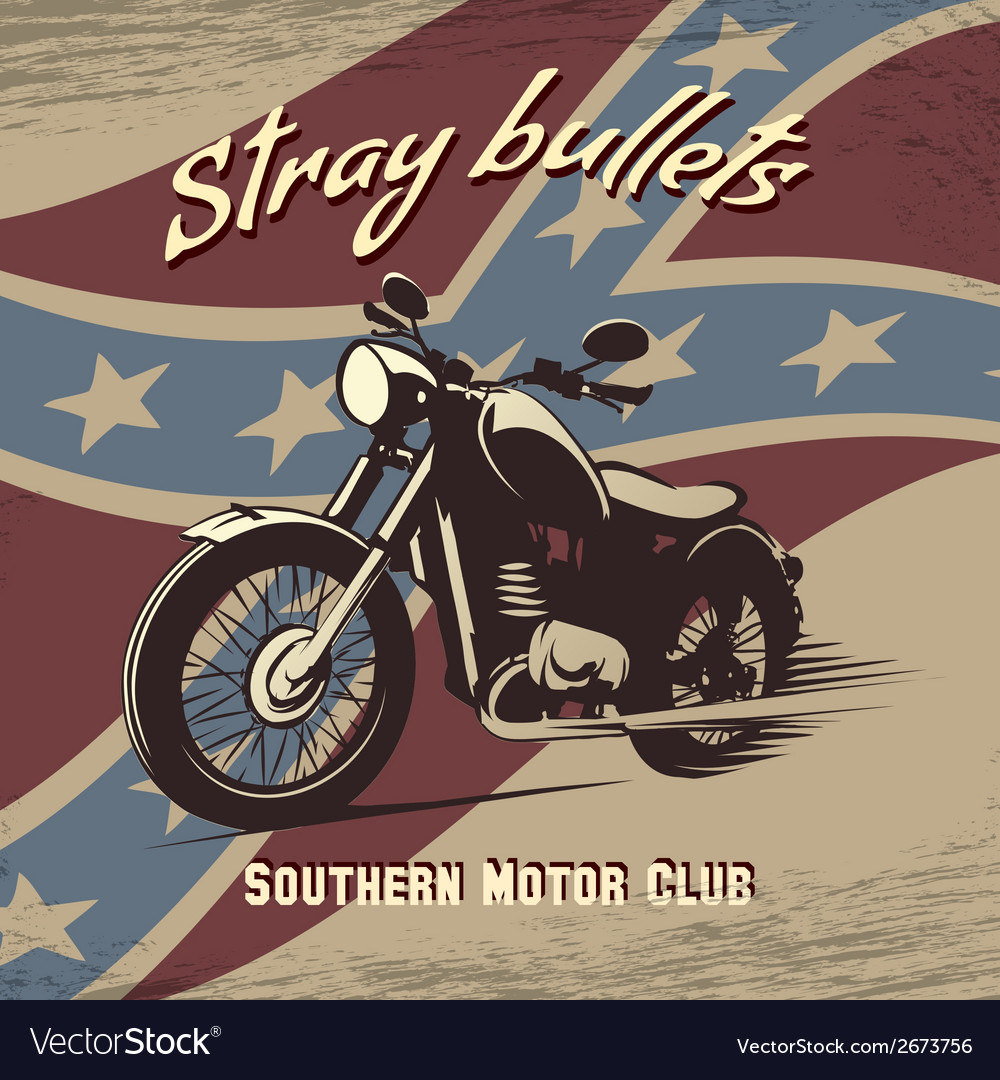 Retro motorcycle club poster vector