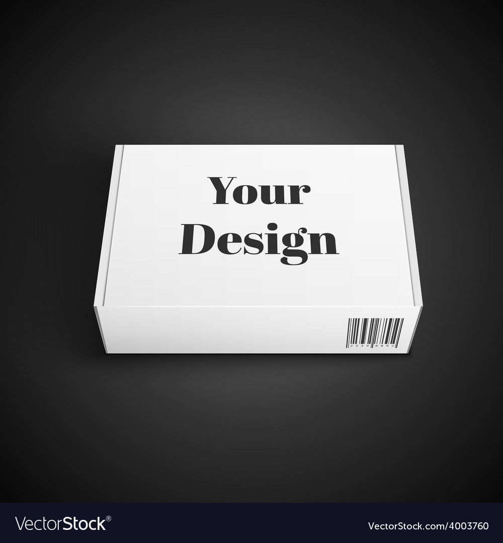 White package box isolated on black vector