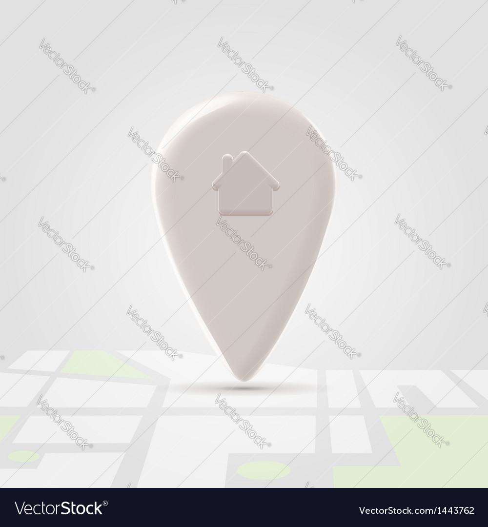 Home local pin over map block vector