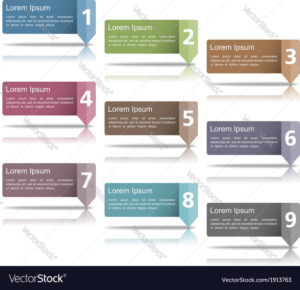 Design elements with numbers vector