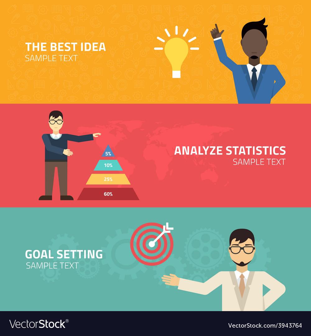 Flat young businessman creative idea conce vector