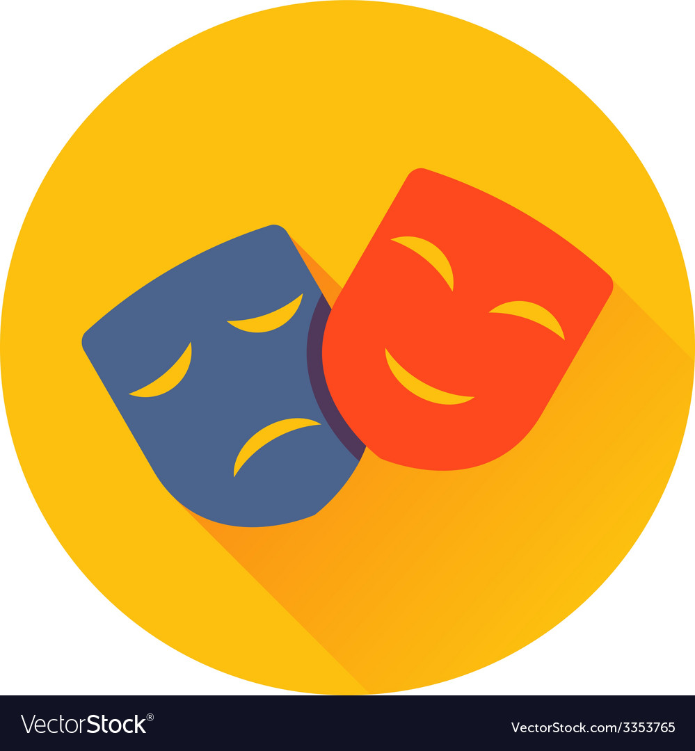 Theater masks icon vector