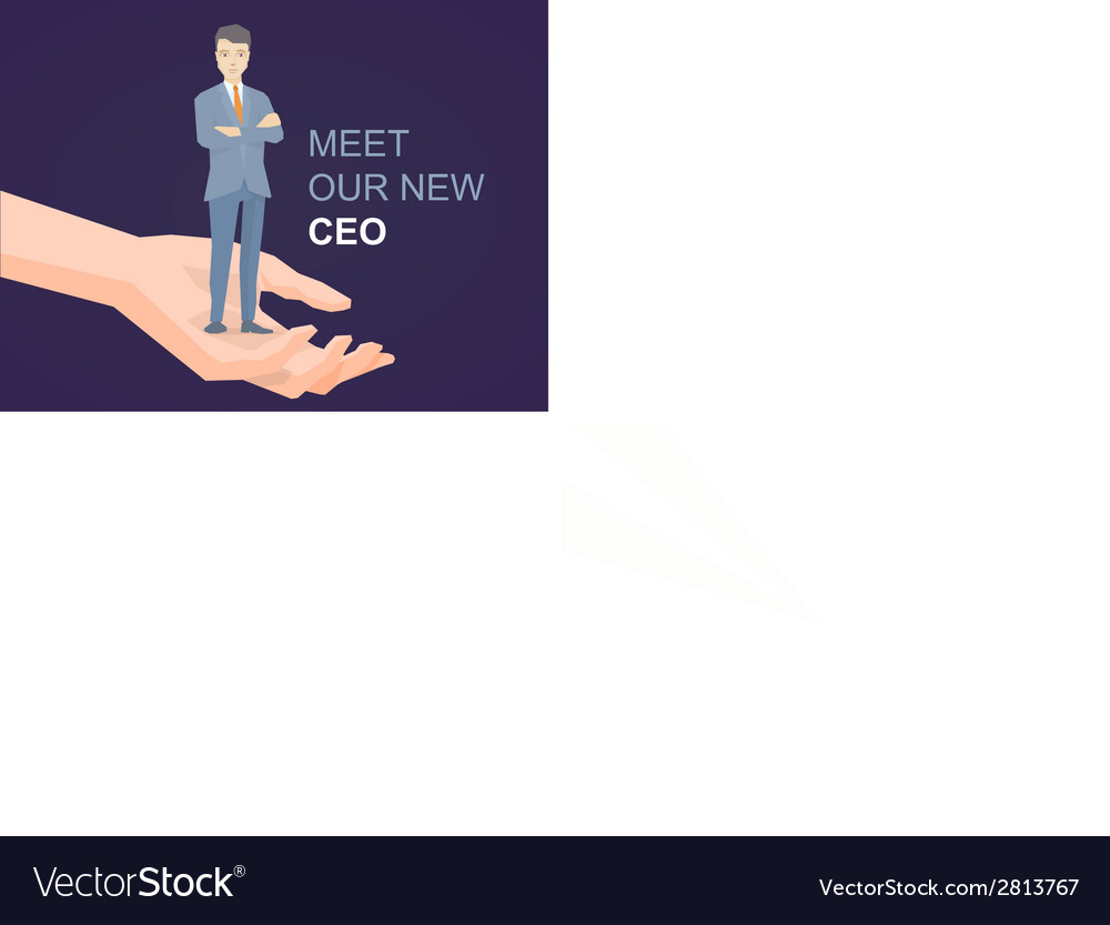 A portrait of the leader businessman wear vector