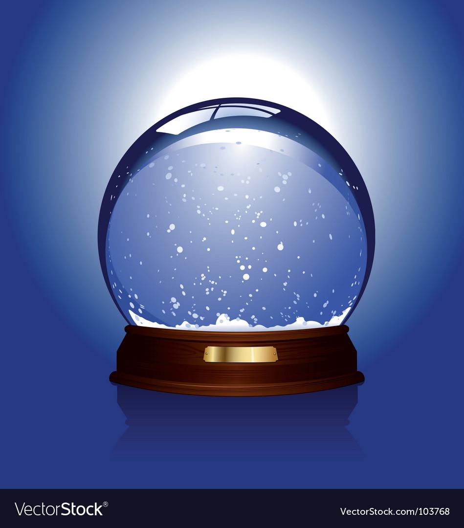 Snow globe over blue vector