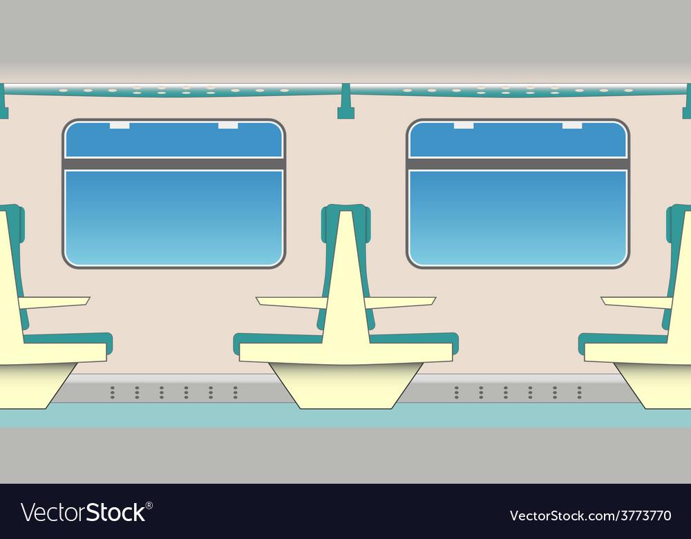 Train seats vector