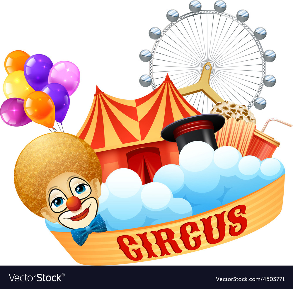 Colorful circus concept vector