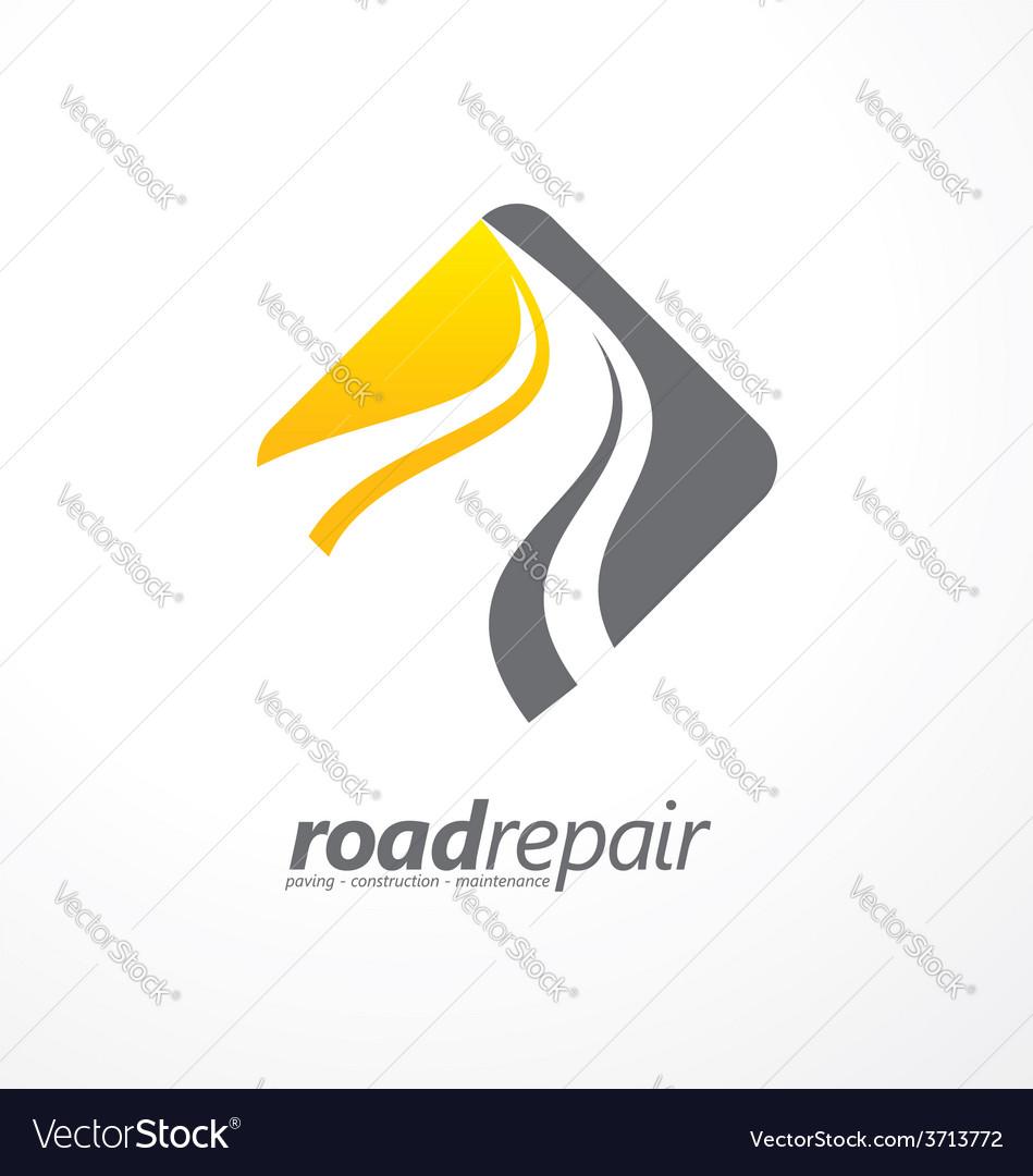 Road maintenance creative sign concept vector