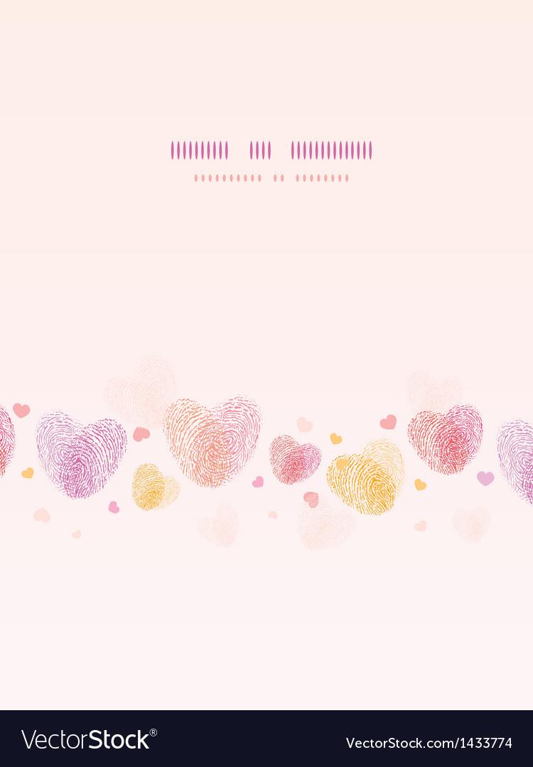 Fingerprint heart vertical romantic background vector