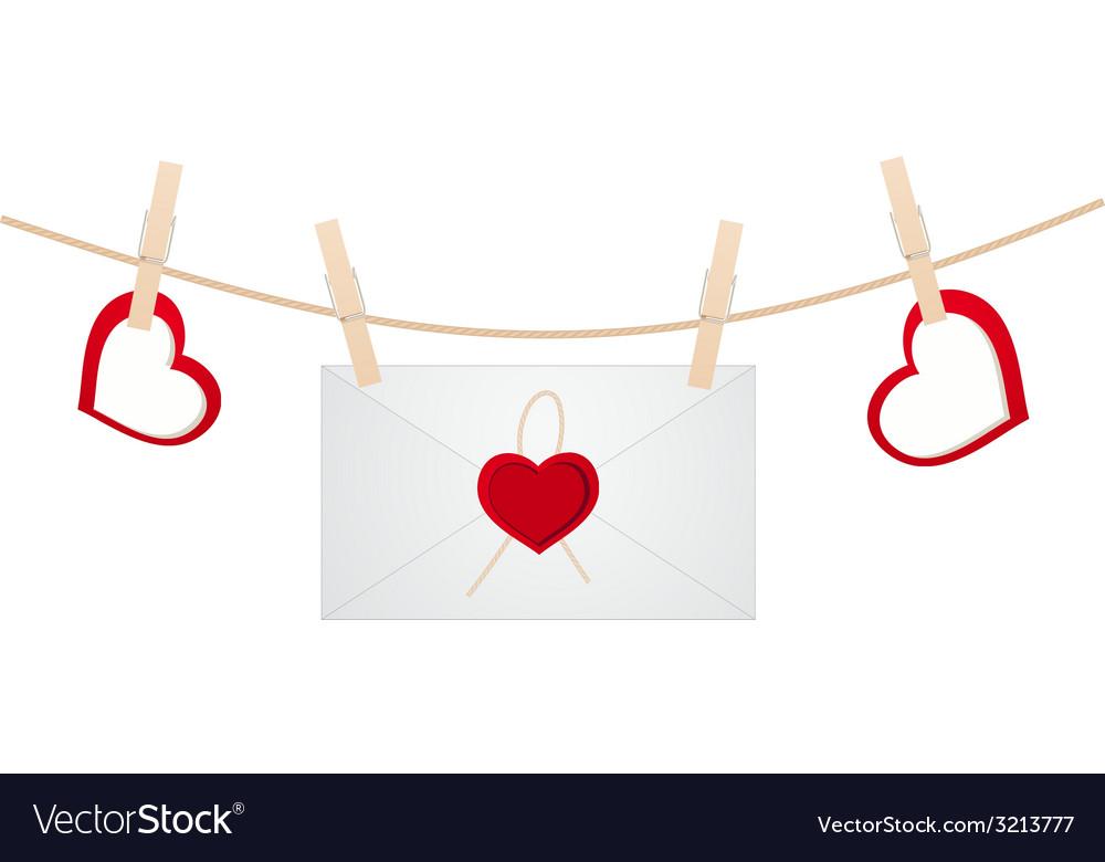 Hearts clothespins 11 vector