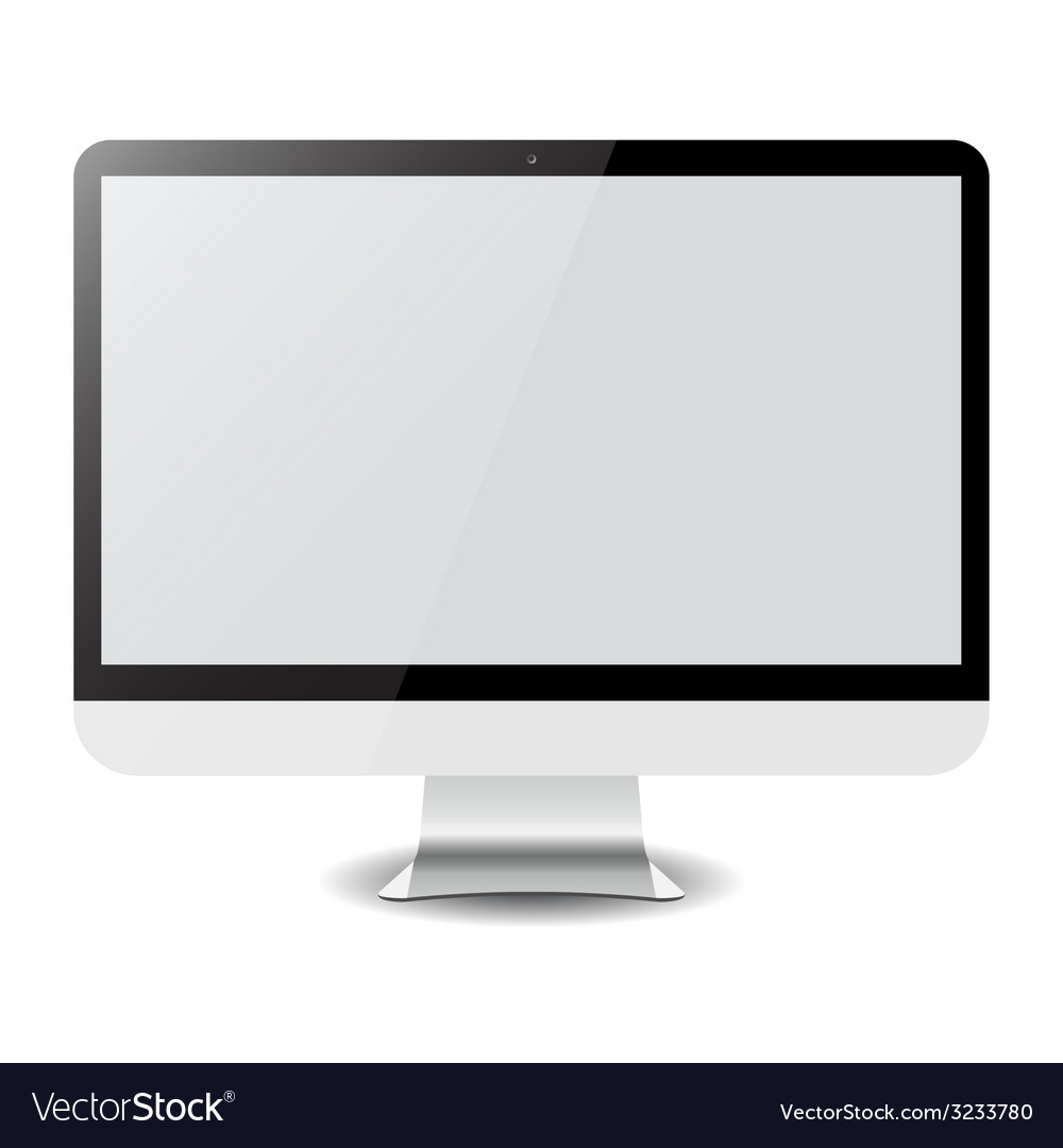 Computer display imac isolated on white vector