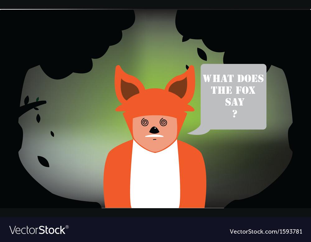 Fox costume vector