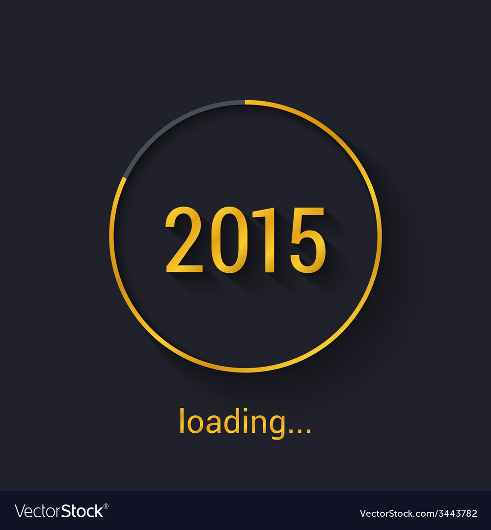 2015 gold progress loading bad vector