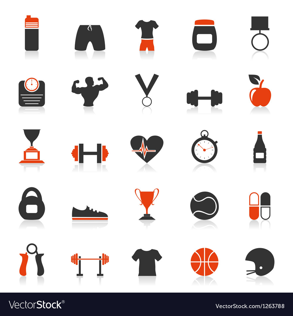 Fitness an icon vector