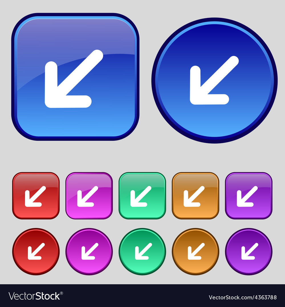 Turn to full screenicon sign a set of twelve vector