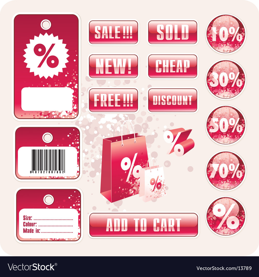 Sale tag stickers vector