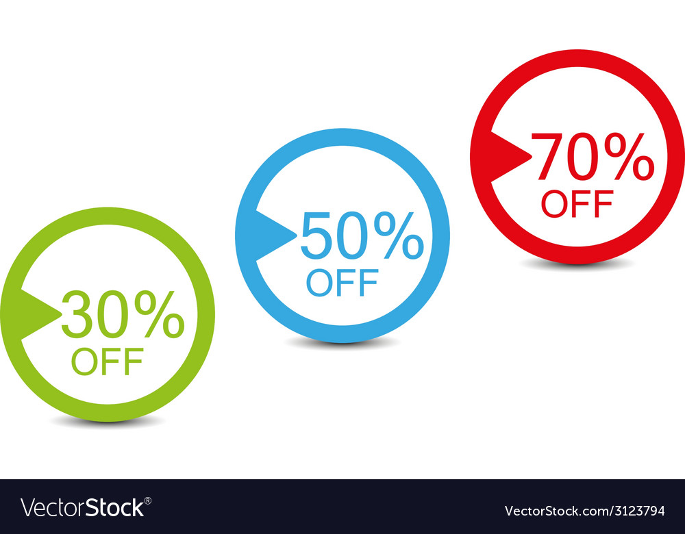 Shopping simple tags vector