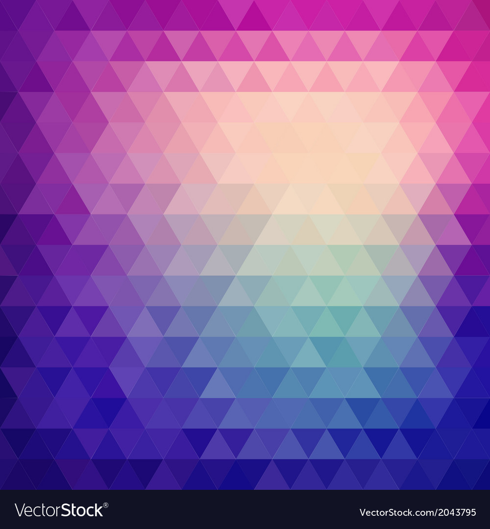 Retro mosaic pattern of geometric triangle shapes vector