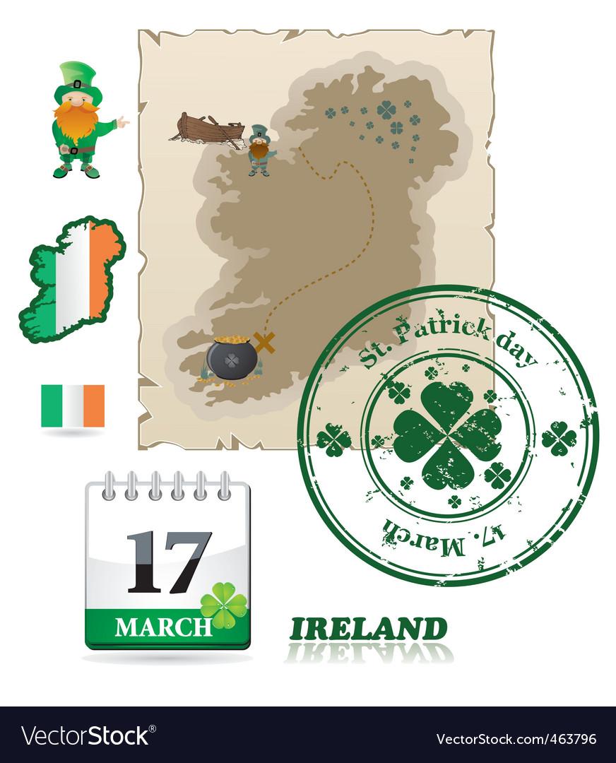 Ireland icons vector