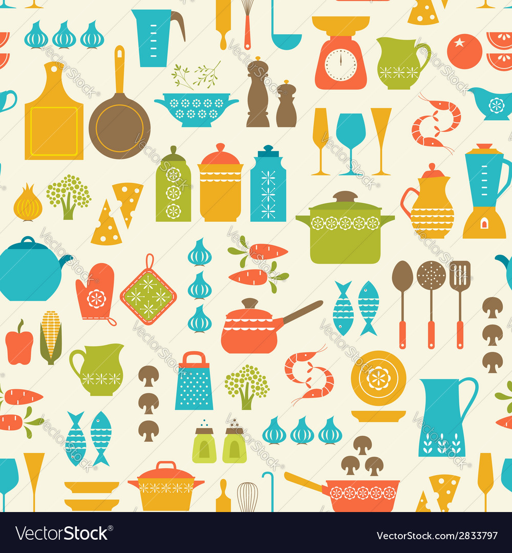 Cooking pattern vector