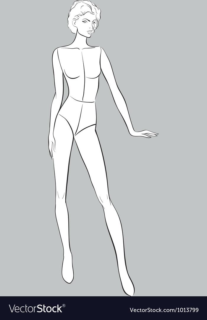 Female fashion figurines vector