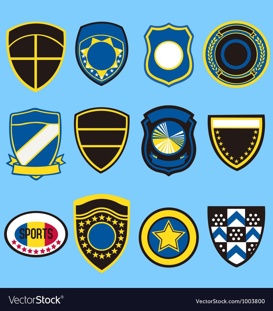 Badge icon symbol set vector