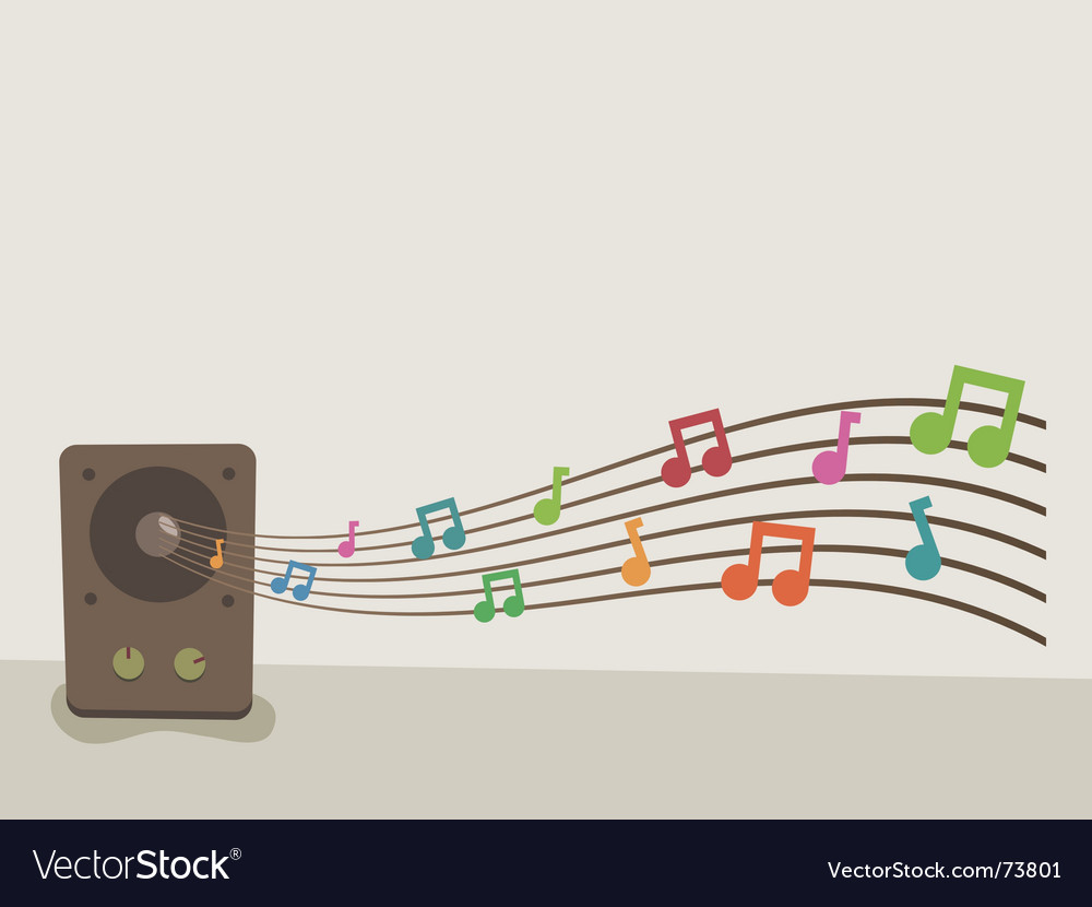 Speaker music vector