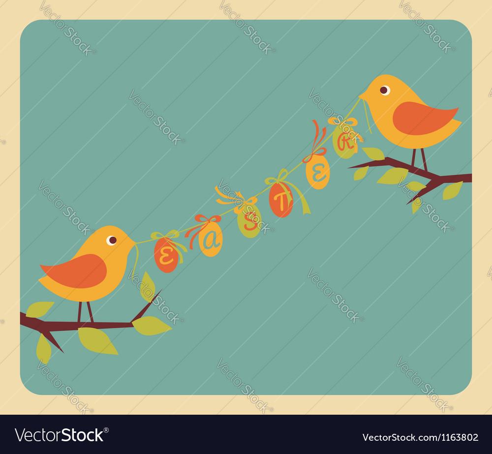 Easter card 4 vector