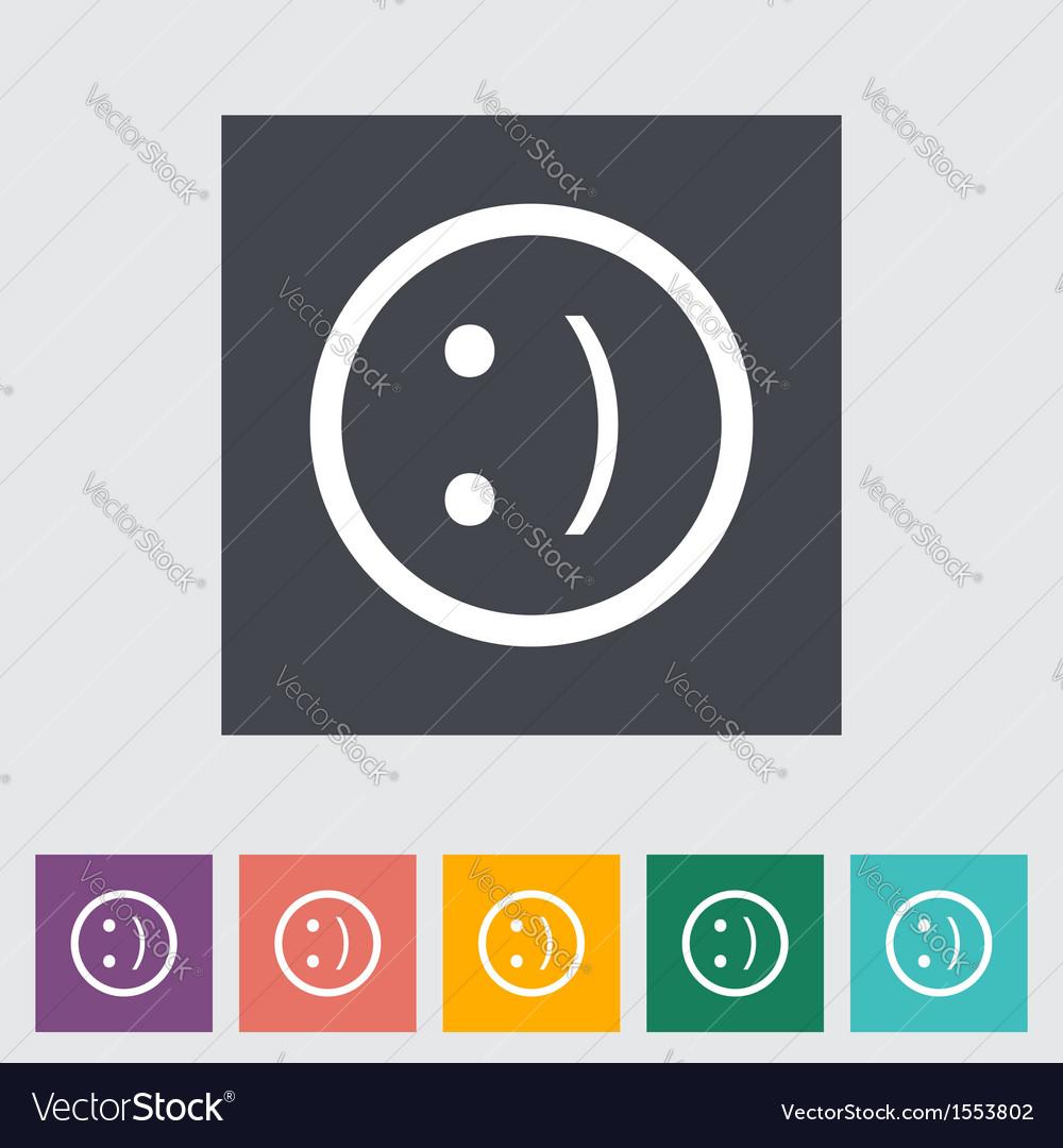 Smile icon vector