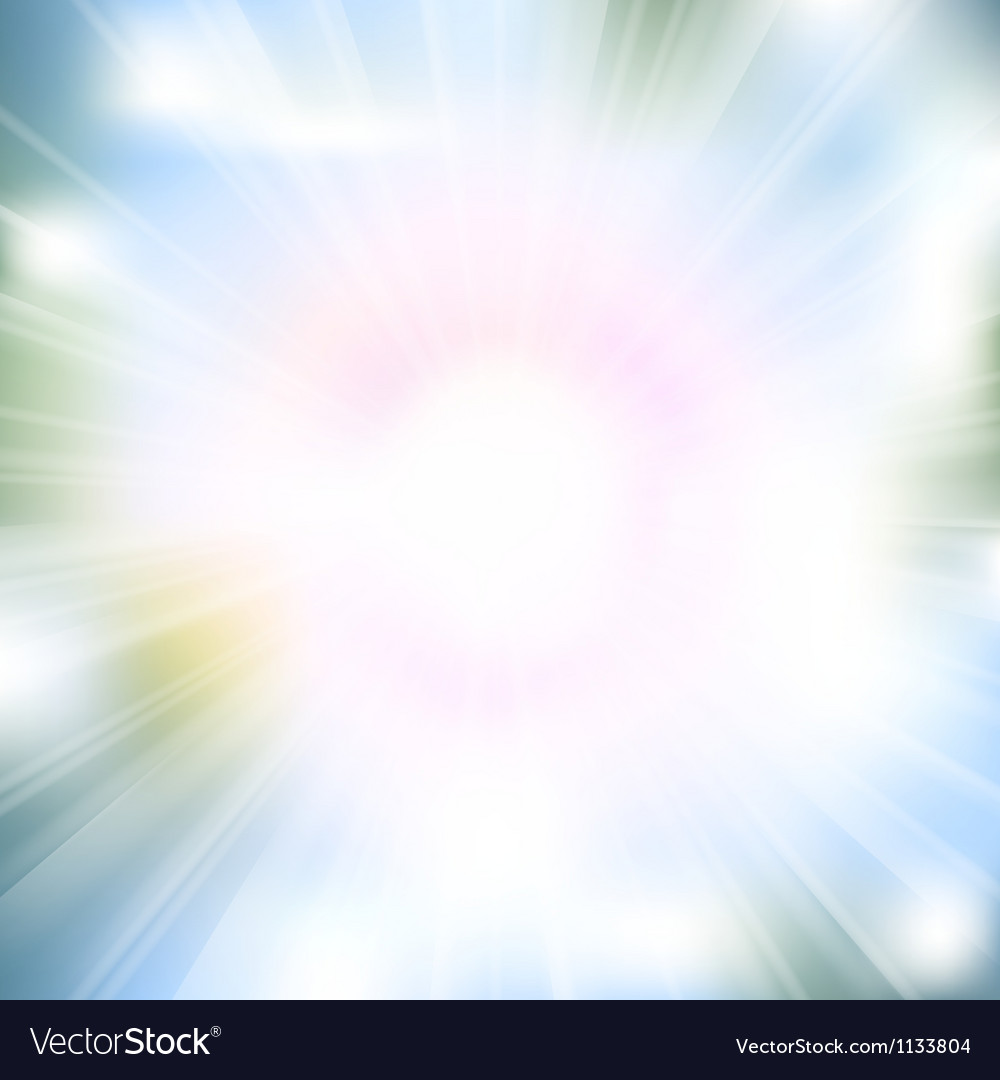 Glow rays from flare explosion vector