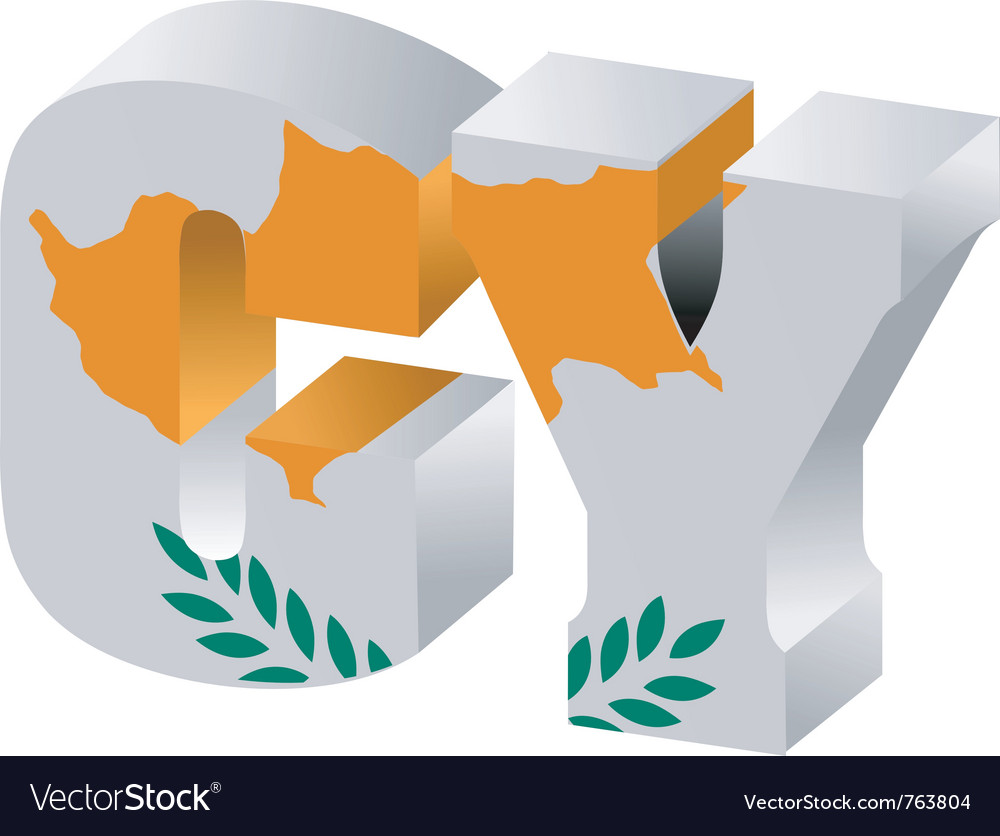 Internet top-level domain of cyprus vector
