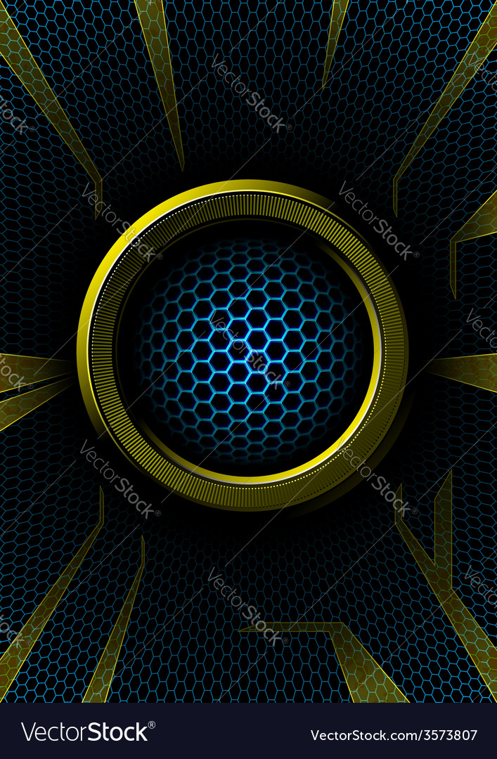 Abstract ring with hex grid vector