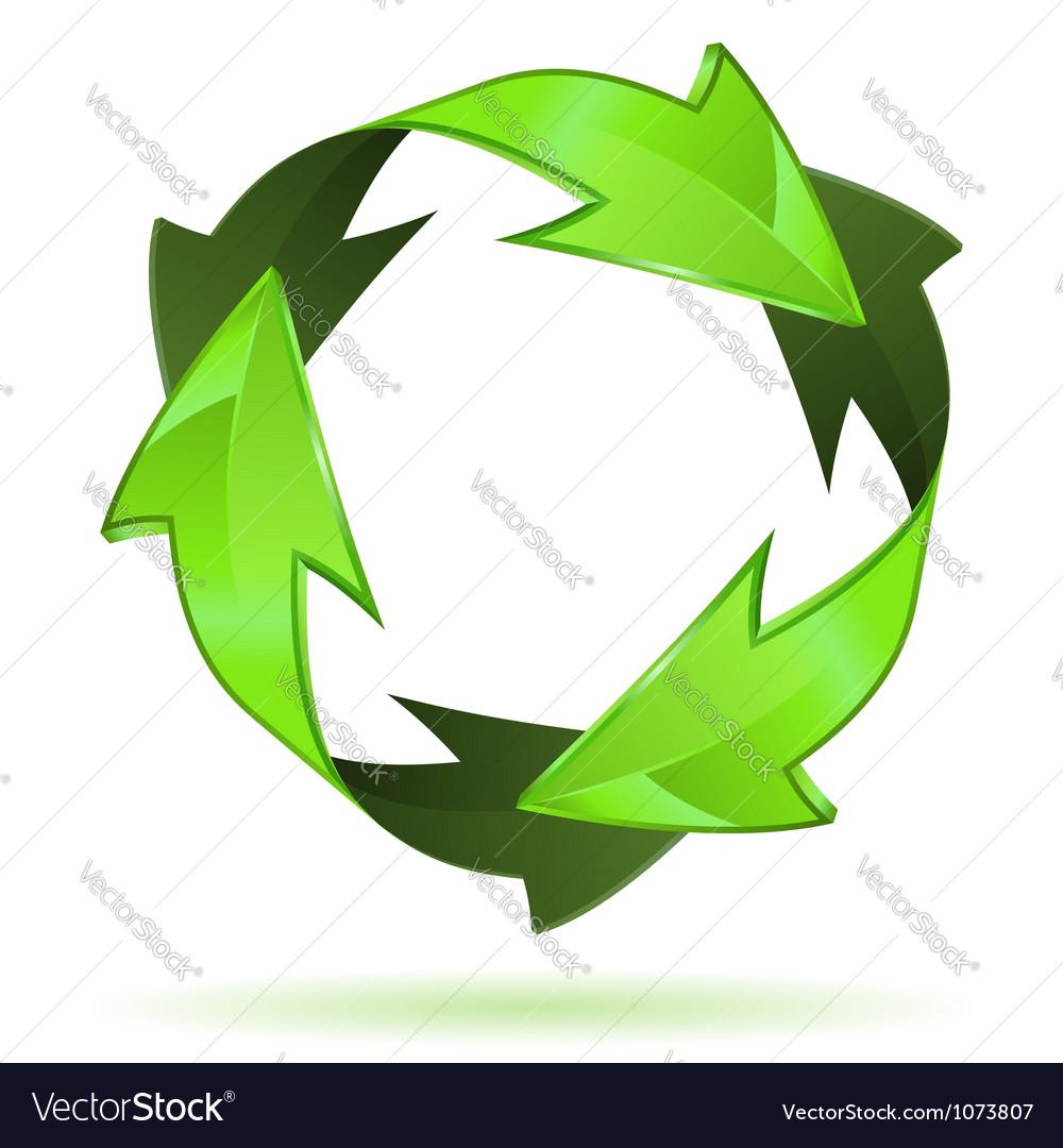 Recycling symbol vector