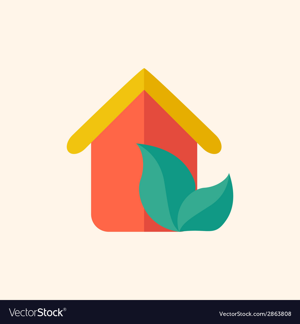 Eco-friendly house flat icon vector