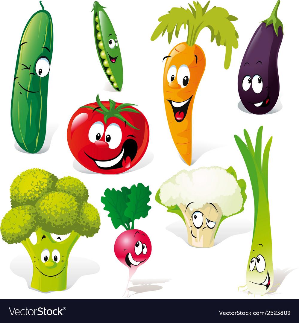 Funny vegetable cartoon vector