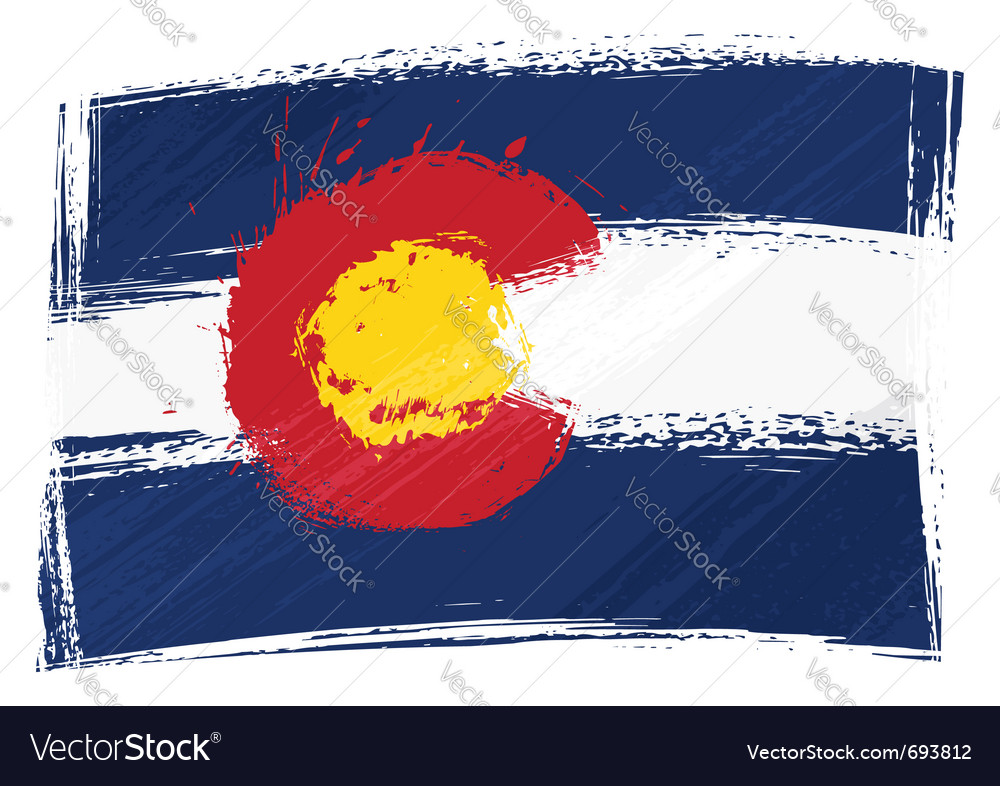 Grunge colorado flag vector