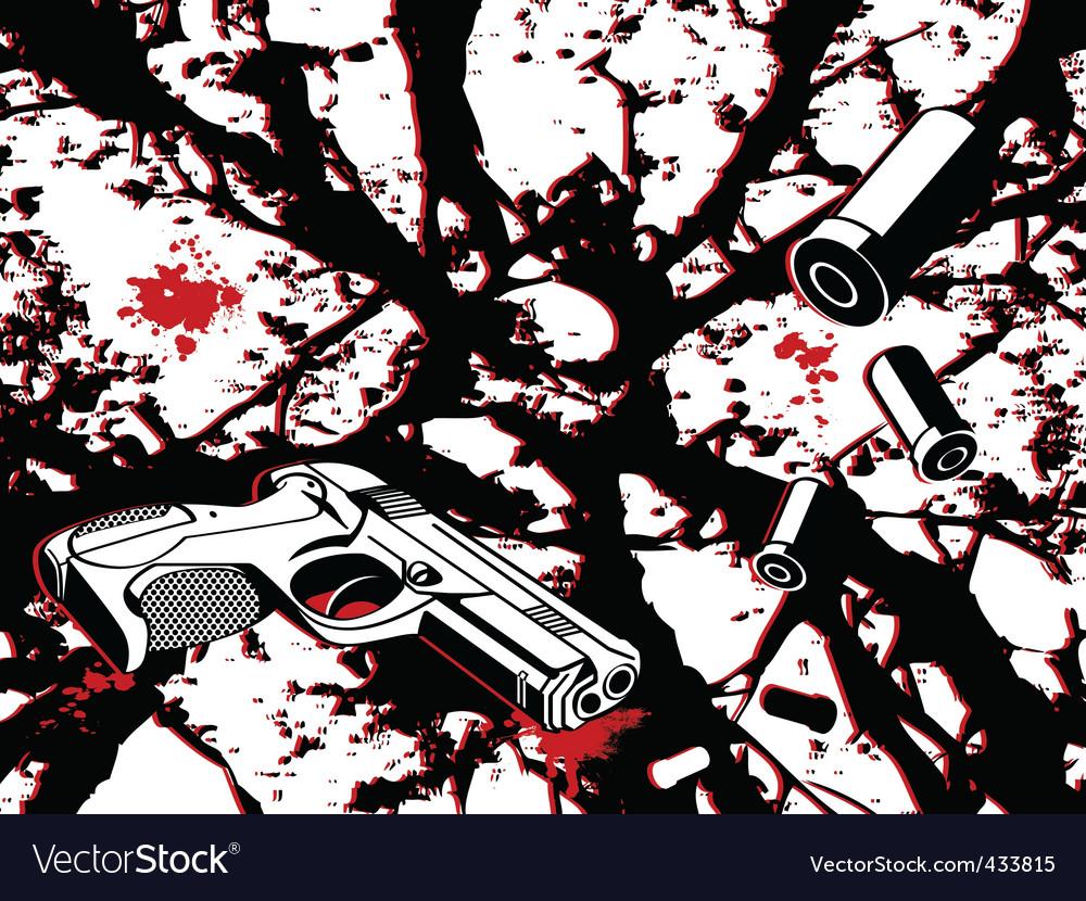 Crime city vector