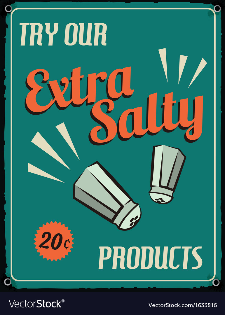 Retro vintage tin sign with grunge effect vector