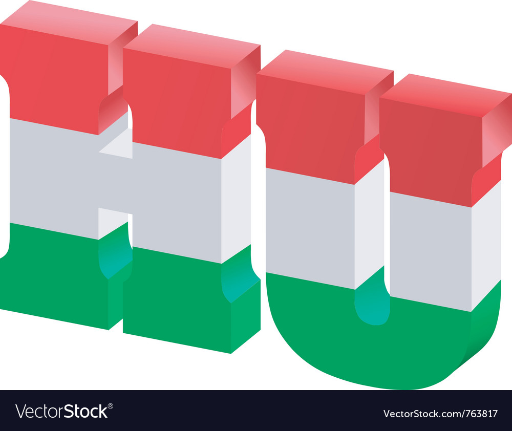 Internet top-level domain of hungary vector