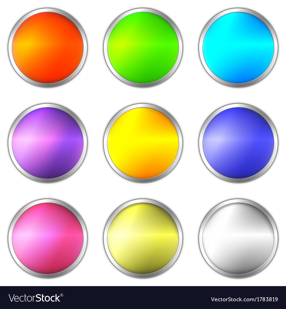 Colorful objects vector