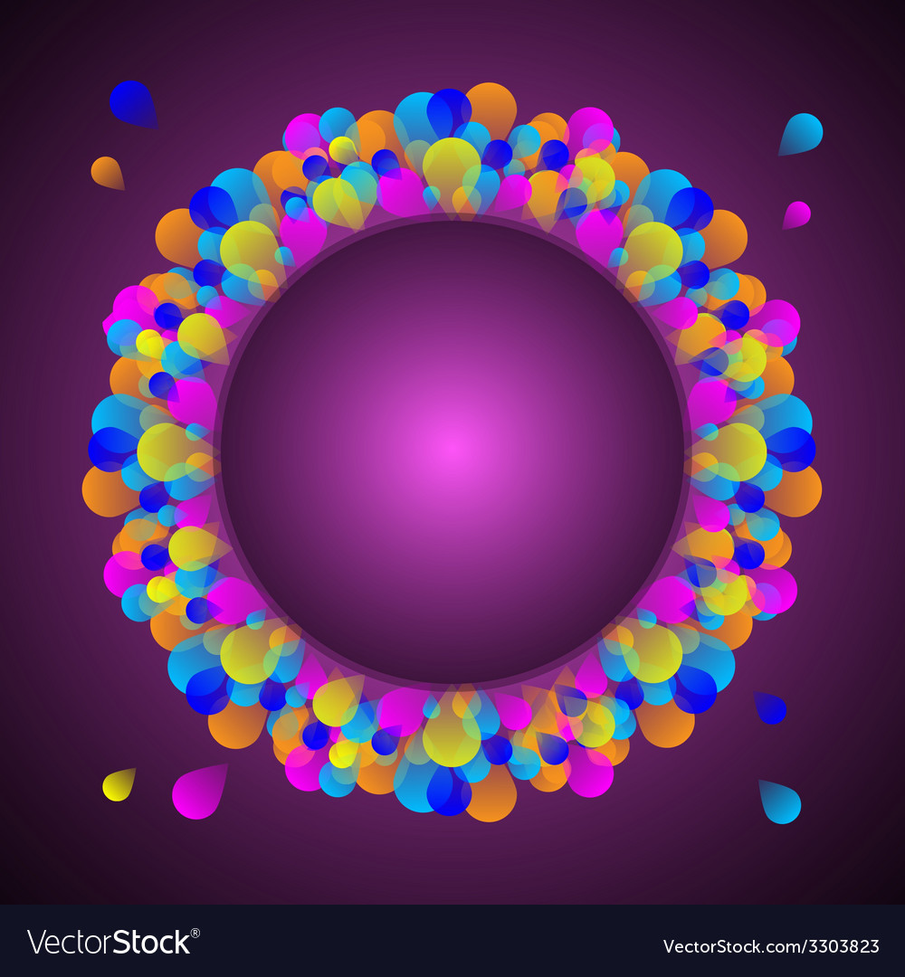 Gorgeous celebration card with colorful balloon vector