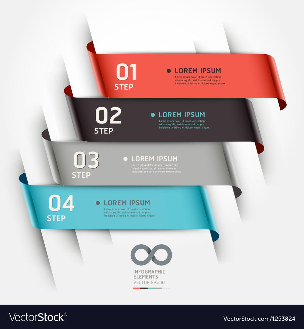 Abstract ribbon options banner vector
