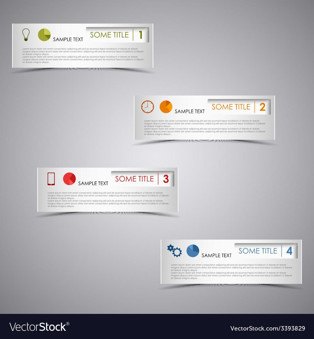 Info graphic rectangular dark design template vector